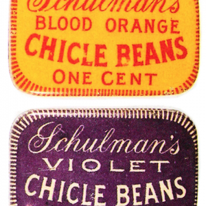 Schulman's Chicle Beans Tins