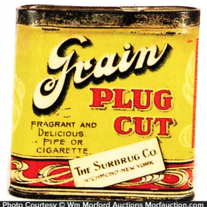 Grain Plug Cut Tobacco Tin