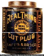 Real Thing Tobacco Tin