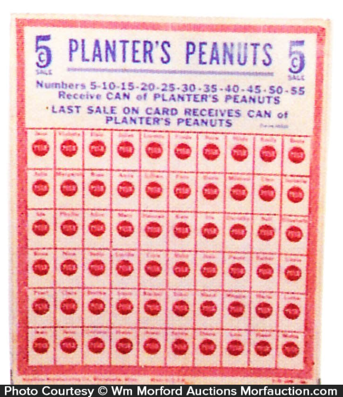 Planters Punchboard