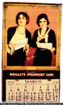 Wrigley's Spearmint Gum Calendar
