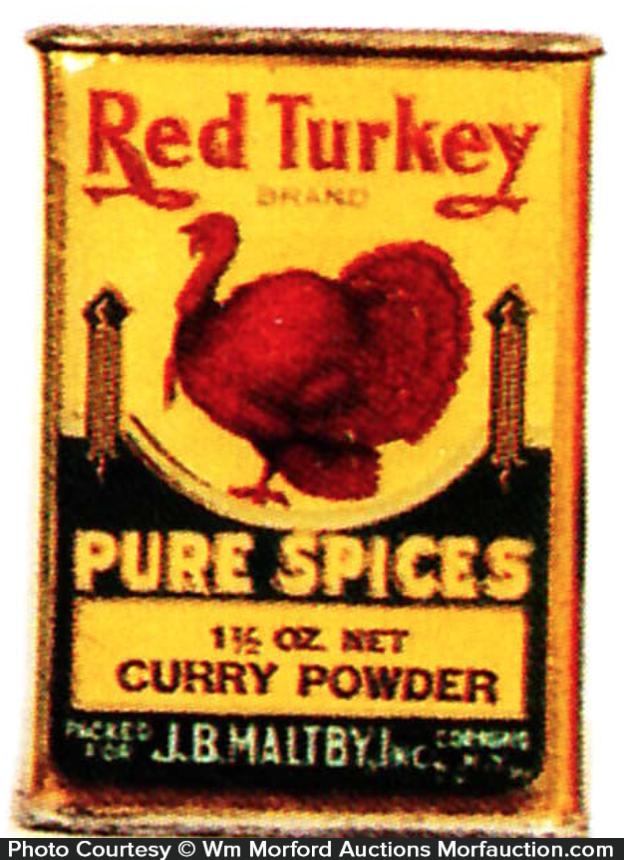 Red Turkey Spice Tin