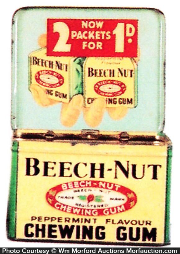 Beech Nut Chewing Gum Tin