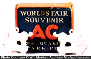 Ac Spark Plugs World's Fair Souvenir