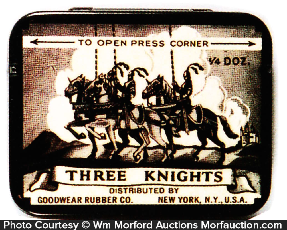 Three Knights Condom Tin