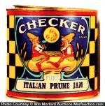Checker Jam Tin