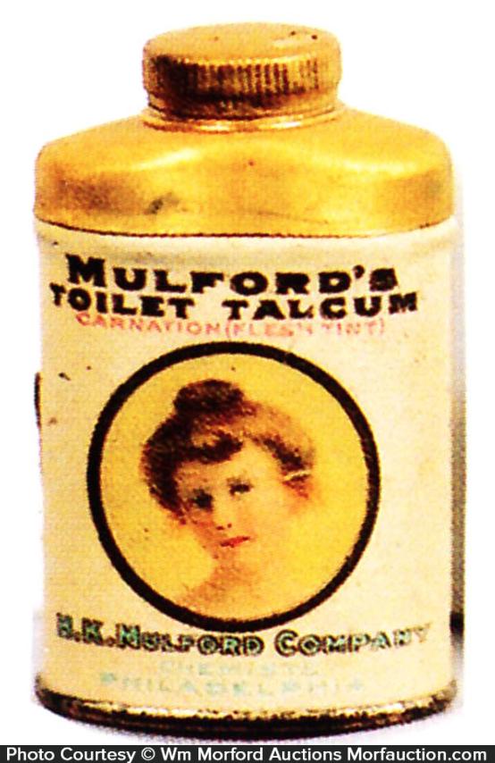 Mulford Toilet Talcum Sample Tin