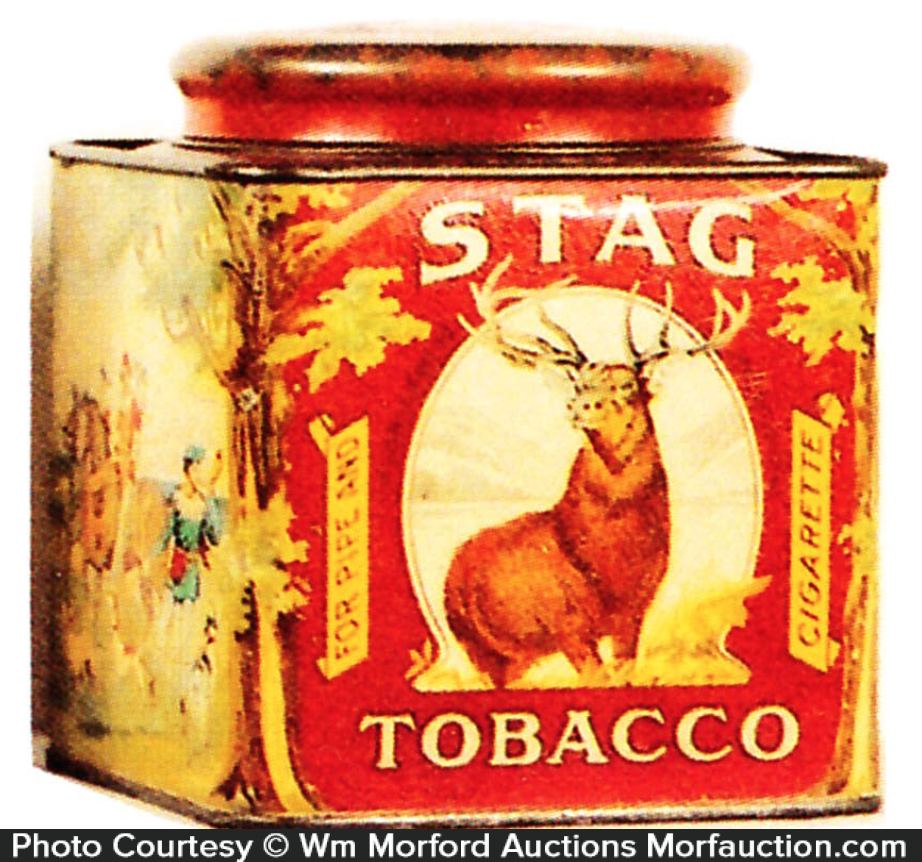 Stag Tobacco Can