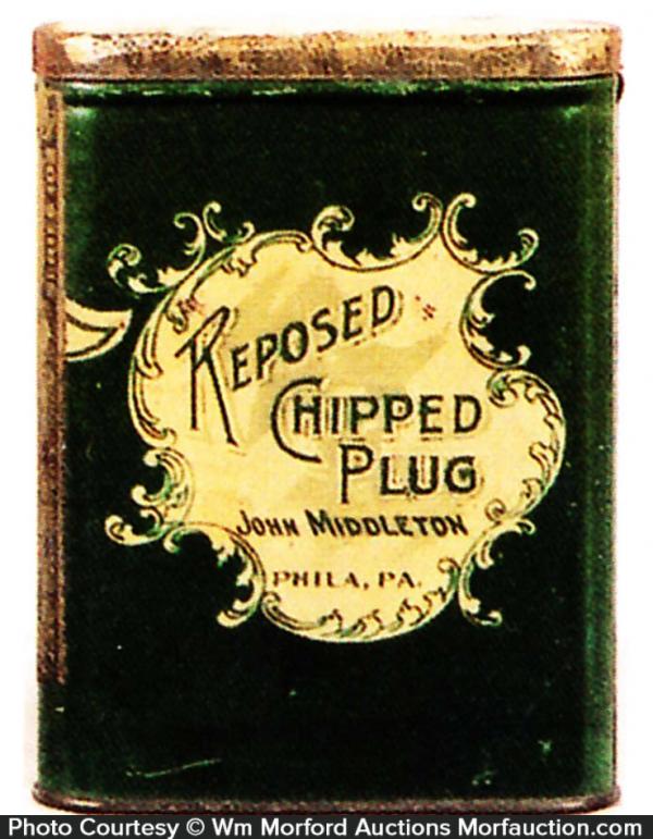 Reposed Chipped Plug Tobacco Tin