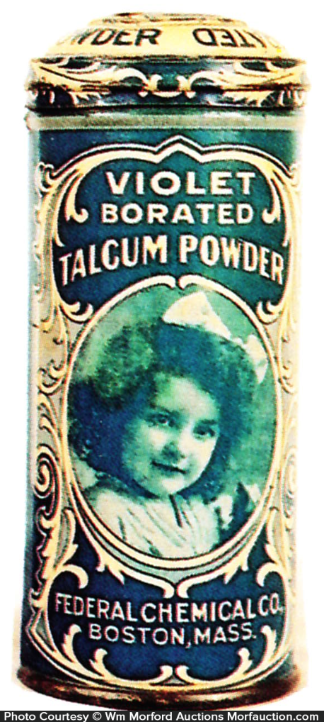 Violet Talcum Powder Tin