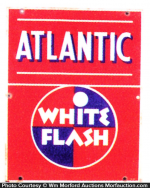 Atlantic White Flash Gasoline Sign