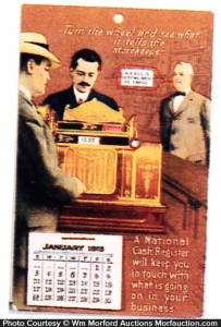 National Cash Register Calendar