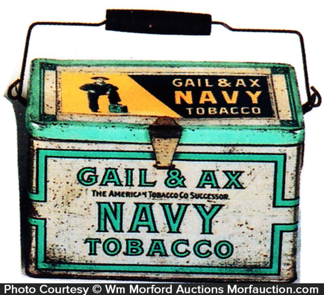 Gail & Ax Navy Tobacco Pail