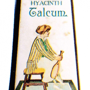 Hyacinth Talcum Tin