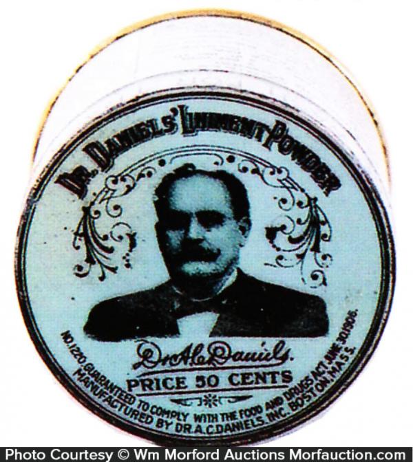 Dr. Daniels' Liniment Powder Tin