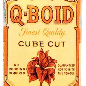Q-Boid Cube Cut Tobacco Tin