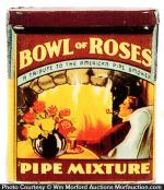 Bowl Of Roses Pipe Tobacco Tin