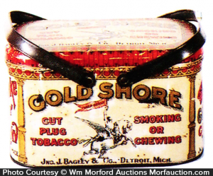 Gold Shore Tobacco Pail