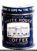 Miniature White House Coffee Can