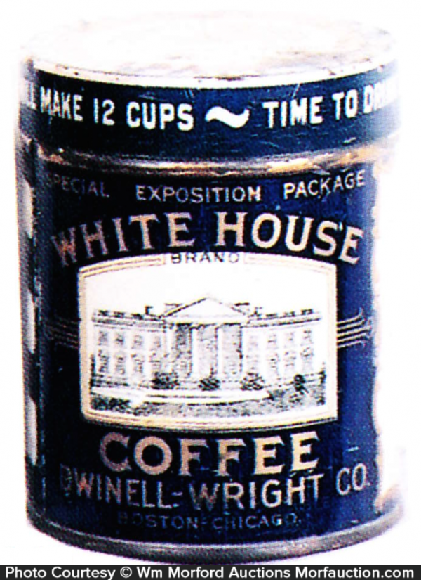 Miniature White House Coffee Can