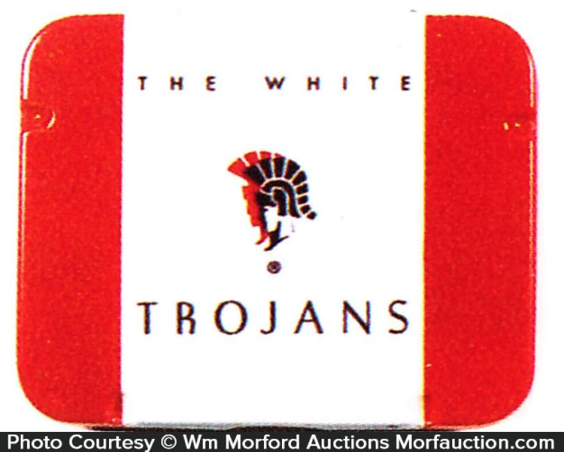 White Trojans Condom Tin