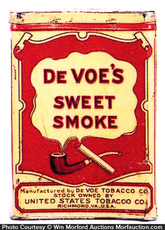 Devoe's Sweet Smoke Tobacco Tin