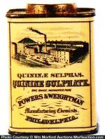 Powers Quinine Sulphate Tin