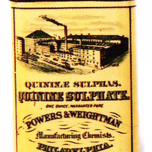 Powers Quinine Sulphate Tin