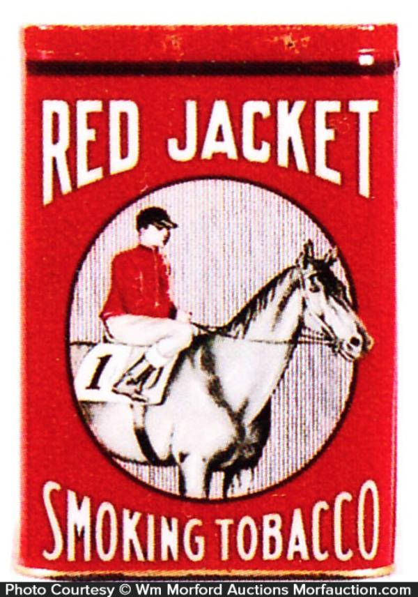 Red Jacket Smoking Tobacco Tin