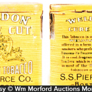 Weldon Cube Cut Tobacco Tin