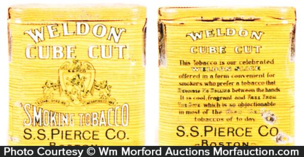 Weldon Cube Cut Tobacco Tin