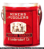 Miners and Puddlers Tobacco Tin