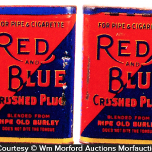 Red and Blue Tobacco Tin