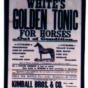 White's Golden Horse Tonic Sign