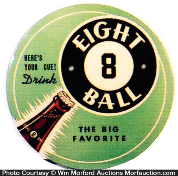 Eight Ball Soda Sign