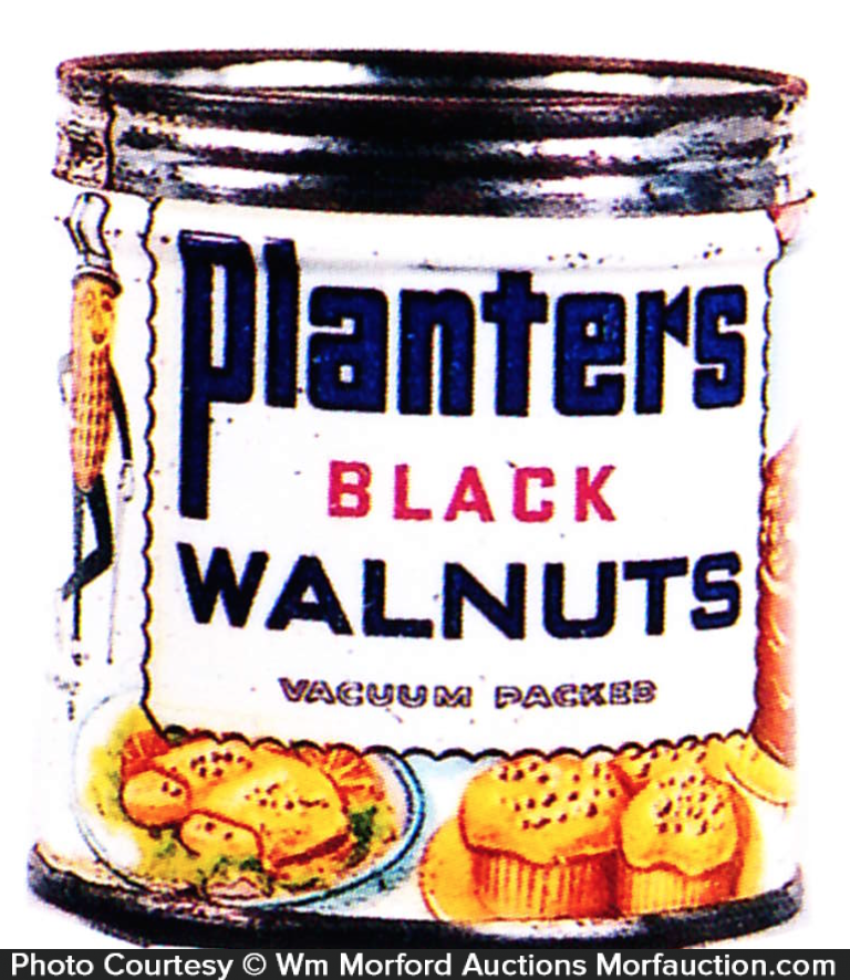Planters Black Walnuts Tin