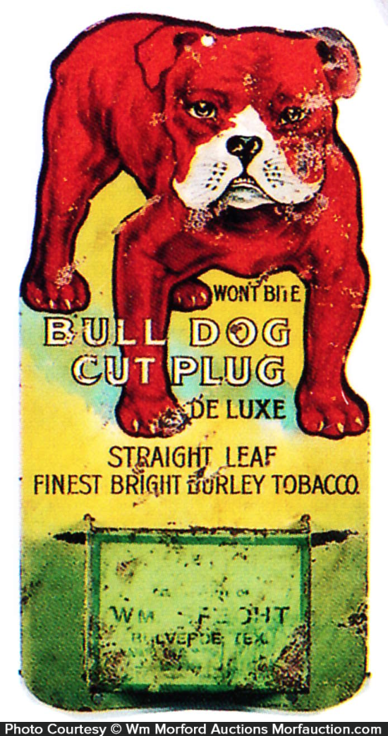 Bull Dog Tobacco Match Holder