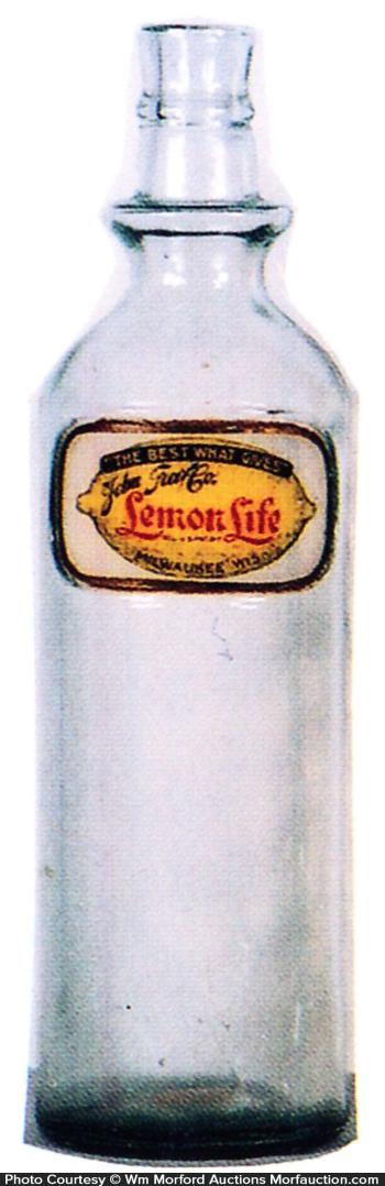 Lemon Life Syrup Bottle