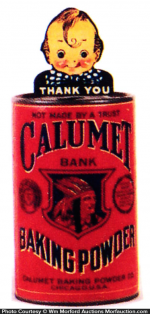Calumet Baking Powder Bank