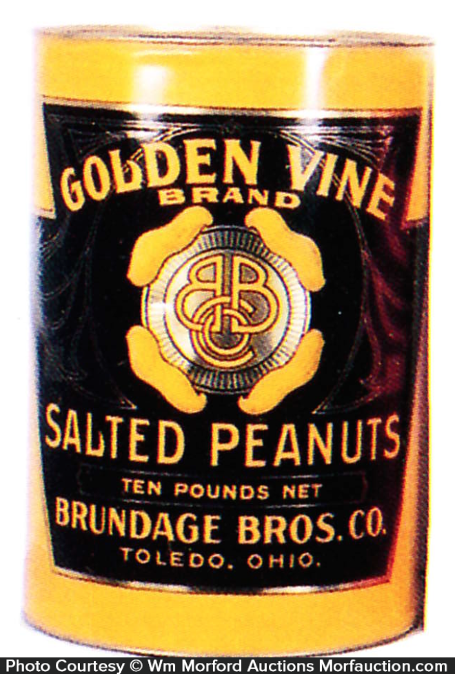 Golden Vine Peanuts Tin