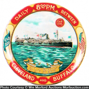 Cleveland and Buffalo Ship Tray