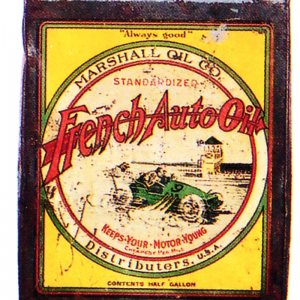 French Auto Oil Can