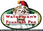 Waterman's Christmas Fountain Pen Sign