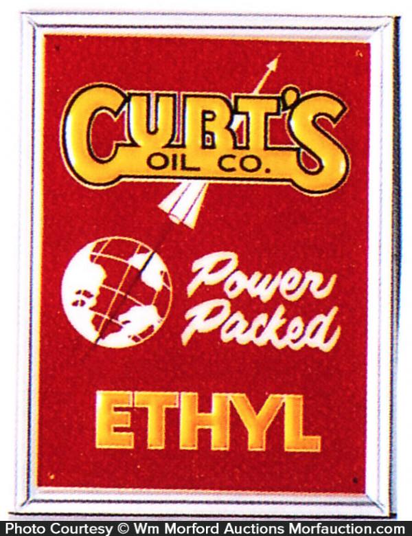 Curtis Oil Ethyl Pump Sign