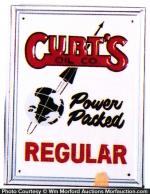 Curtis Oil Pump Sign