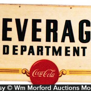 Coca-Cola Beverage Department Sign