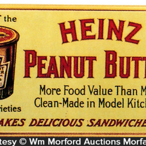 Heinz Peanut Butter Sign