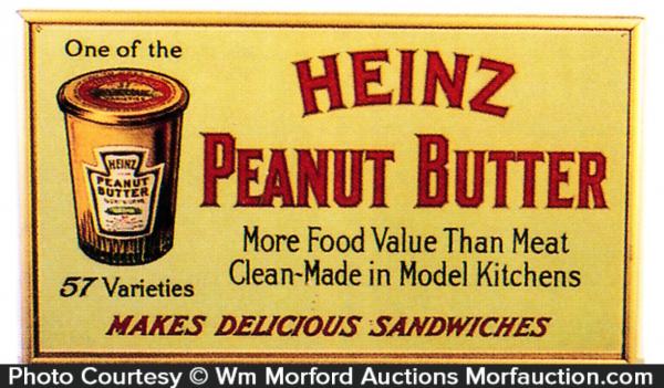 Heinz Peanut Butter Sign