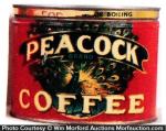 Peacock Coffee Can