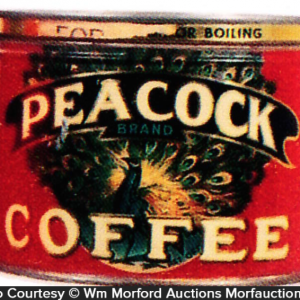 Peacock Coffee Can